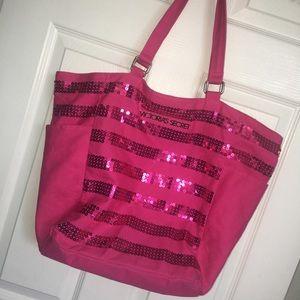 VS Pink Sequin Tote Bag